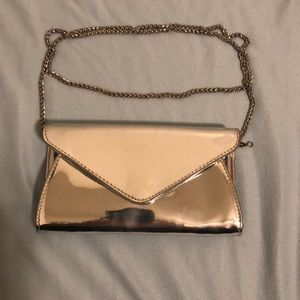 Forever 21 Metalic Envelope Clutch